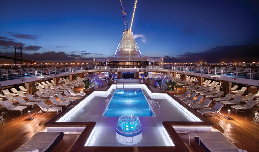 Pool view of South America Cruise ship