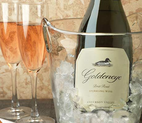 Goldeneye Sparkling wine in a bucket