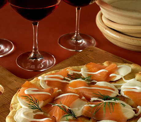 Smoked Salmon-Truffled Pizza Recipe