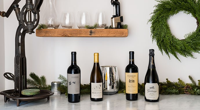 Duckhorn Portfolio Wines on a counter for Black Friday Sale!