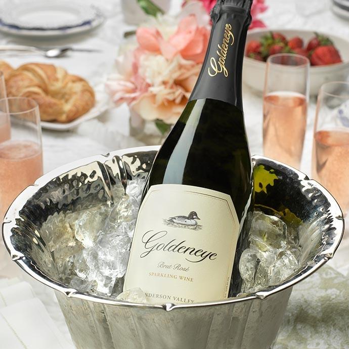 Goldeneye Sparkling wine in an ice bucket