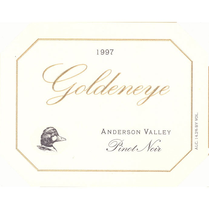 Goldeneye 1997 Pinot Noir label