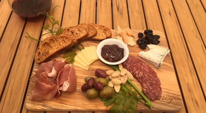 Goldeneye charcuterie and cheese board